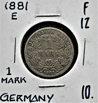 1881-E Germany 1 Mark F-12