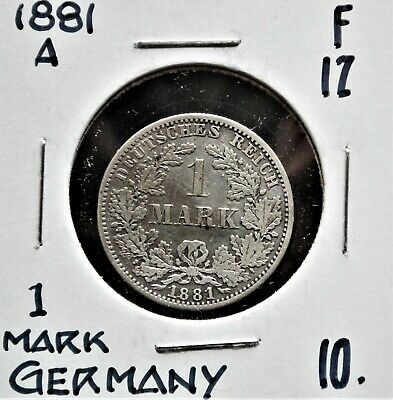 1881-A Germany 1 Mark F-12
