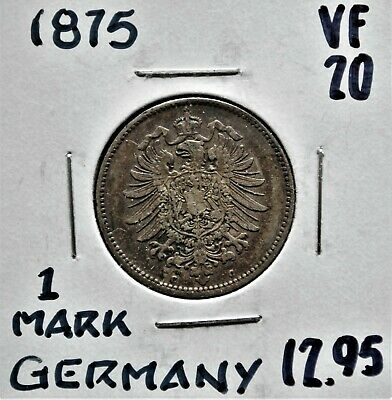 1875-c Germany 1 Mark VF-20