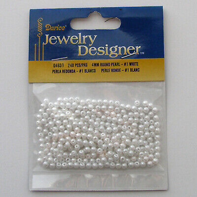 Gold 5mm Pearl Style Acrylic//Faux//Plastic Spacer Beads ~500 pieces