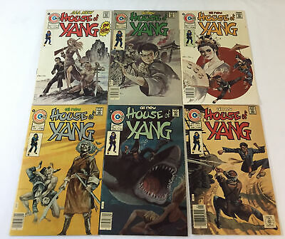 1975 Charlton Comics HOUSE OF YANG #1 2 3 4 5 6 ~ FULL SET