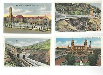 Lot of  5  TRAIN post cards