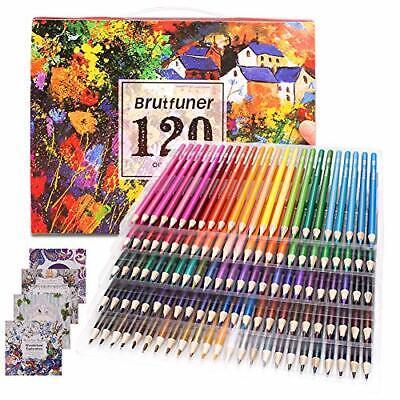 Colouring Pencils Adult Coloring Book Artist 120 Colour Pencil Set for Artists,