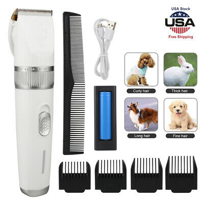 Dog Cat Clippers Cordless Rechargeable Pet Grooming Hair Trimmer Kit Low Noise
