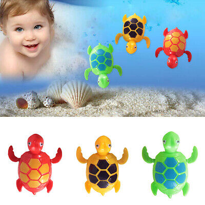 3PCS Baby Bath Pool Swimming Turtle Animal Toy Winding Wind-up For Kids