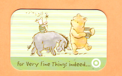Collectible 2005 Target Gift Card - Winnie the Pooh, Eeyore, Piglet - No Value