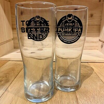 2 X M/&B BITTER PINT GLASSES OFFICIAL BRAND NEW FREE POSTAGE