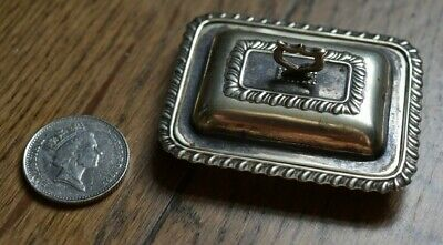 Rare 1880s salesman sample silver plate miniature serving covered food dish