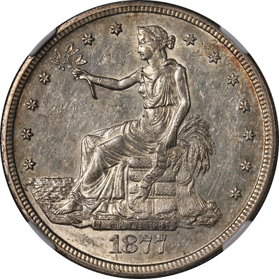 1877-S Trade Dollar NGC AU58 Great Eye Appeal Nice Luster Strong Strike