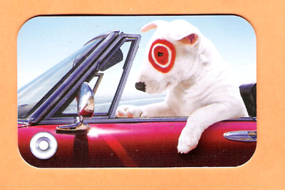 Collectible 2006 Target Gift Card - Dog Drives Convertible Car - No Cash Value