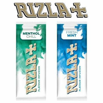 5x NEW Rizla Flavour Cards Card - Infusions of Fresh Mint or Menthol Chill Cheap