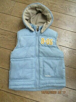 Boys Zara Light Blue Bodywarmer Age 6-7Years