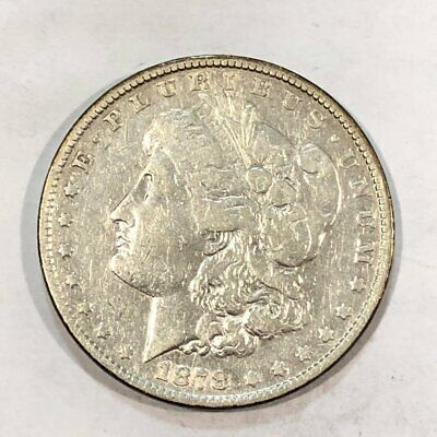 1878 7tf rev78 Morgan silver dollar. Cleaned VF. #ud10