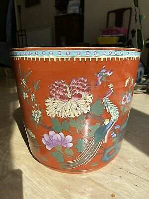A large early 20th century Chinese famille rose jardiniere