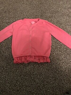TU Girls Age 9 Years Fantastic Design Pink Cardigan Excellent Condition