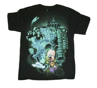 Walt Disney World 2014 Halloween T-shirt Black Med Mickey Mouse Haunted Mansion