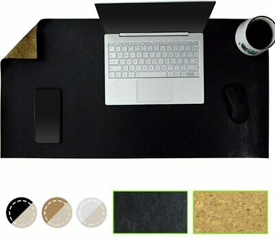 "Nice Gaming Mousepad PU Leather Cork 31.5"" 15.7"" Waterproof Desk Cover Protector"