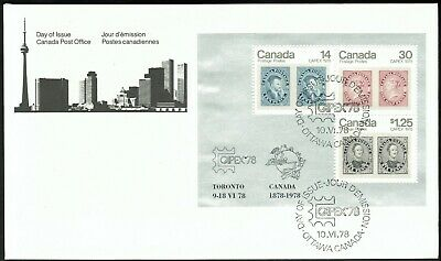 Canada sc#756a Capex '78: Stamp on Stamp Souvenir-Sheet, FDC