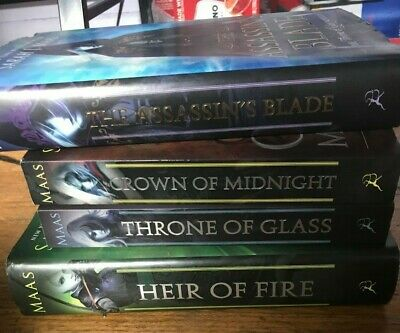 First three books in the Throne of Glass series and prequel book