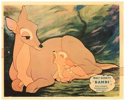 Bambi Walt Disney Animation Original Lobby Card 1942 Rare Mother deer historic