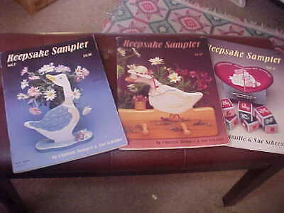 Lot of 3 Keepsake Sampler Tole Decorative Painting books Sue Scheewe VGC