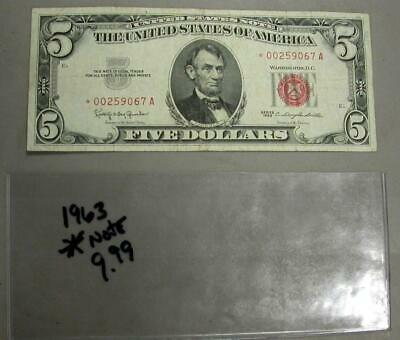 1963 Five Dollar Red Seal Star Note -M564