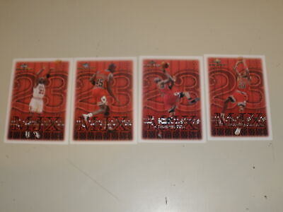 1999-00 Upper Deck MVP MJ Exclusives Michael Jordan 4 Card Lot