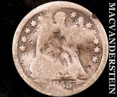 1855 Seated Liberty Half Dime-Scarce Better Date #P9617