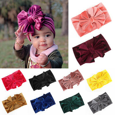 Bands Kids Hair Accessories Big Bows Hair Bands Baby Girl Headbands Headwrap