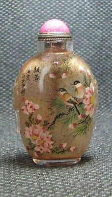 Chinese Exquisite Inside-drawing Bao Chun Glass Snuff Bottle