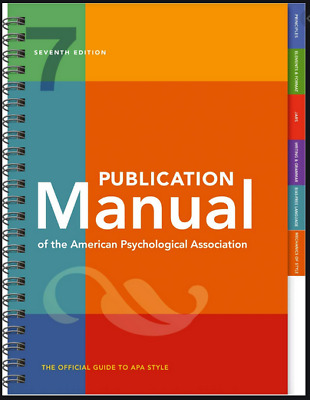 Publication Manual of the American Psychological Association 7th Ed 2020 [P.D.F]
