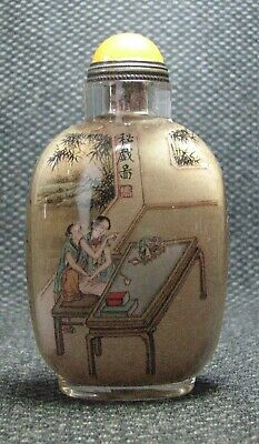 Chinese Exquisite Inside-drawing Character Story Glass Snuff Bottle