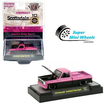M2 Machines 1979 Chevrolet Scottsdale Chevy Sport (Pink) Square Body Truck 1:64