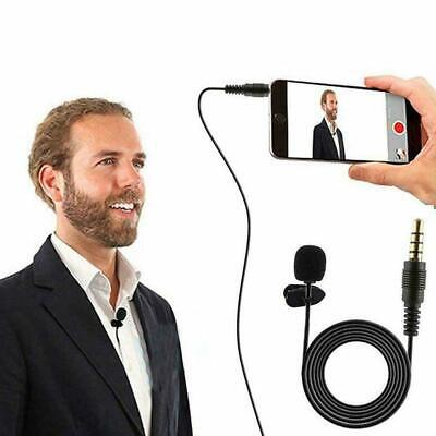 3.5mm Clip On Lapel Mini Microphone Hands Free Wired Condenser NEW Mic