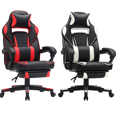 Racing Gaming Chair Adjustable Office Chair with Footrest Ergonomic Design 150kg