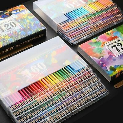Professional Oil Color Pencils Set Lapis Artist Painting Sketching School Art