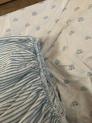 2 John Lewis Cotbed Fitted Sheets 70 X 140cm