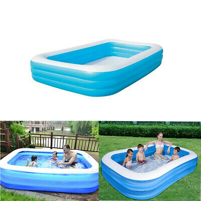 "Large 120"" Family Swimming Pool Outdoor Garden Summer Fun Kids Paddling Pools UK"