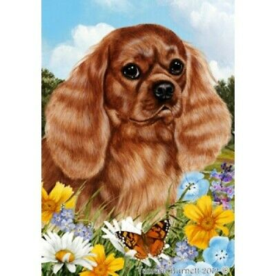 Summer House Flag - Ruby Cavalier King Charles Spaniel 18118