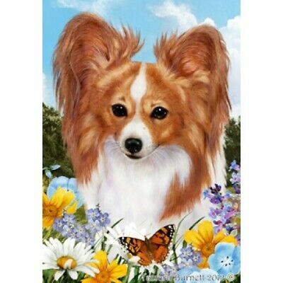 Summer House Flag - Red and White Papillon 18064