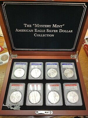 The Mystery Mint American Eagle Silver Dollar Collection 2011-2014 W&S PCGS MS69