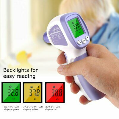 Hot Infrared Thermometer Digital LED Forehead No-Touch Body Adult bg