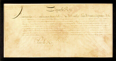"King ""Sun King"" Louis Xiv (France) - Manuscript Document Unsigned"