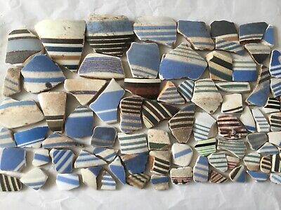 Collection of Striped Beach Pottery 325g
