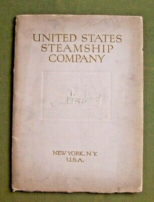 1919 Vintage United States Steamship Company Corporate Brochure Photos Book NY