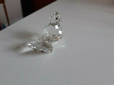 Swarovski Crystal Dove With Pink Eyes  Boxed