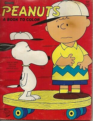 1965 Peanuts A Book To Color USED