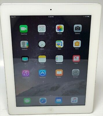 "Apple iPad 4th Generation (A1458) Wi-Fi  9.7"" - 16GB - White    MV1266"
