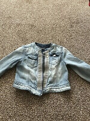 Next Girls Age 9 Years Fantastic Denim Jacket Gorgeous Design Fabulous Conditiin