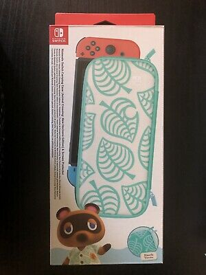 New - Nintendo Switch Animal Crossing Carrying Case & Screen Protector - UK